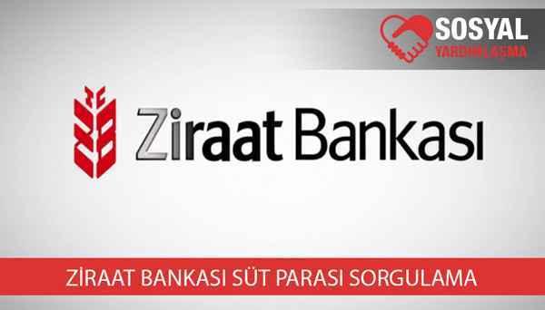Ziraat bankası süt parası sorgulama
