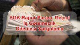 SGK Rapor Parası, Geçici İş Göremezlik Ödemesi Sorgulama