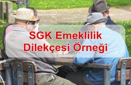 2019 SGK Emeklilik Dilekçesi Örneği