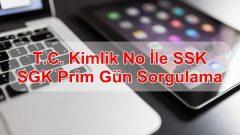 T.C. Kimlik No İle SSK, SGK Prim Gün Sorgulama