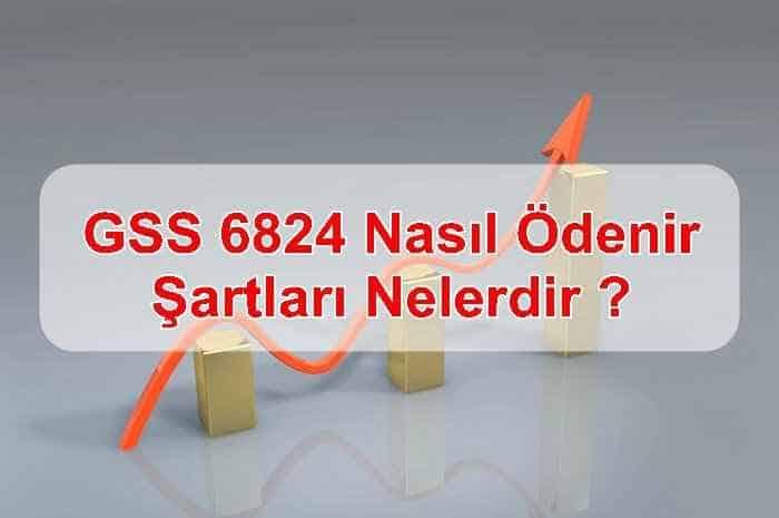 Photo of GSS 6824 Nasıl Ödenir, Şartları Nelerdir ?