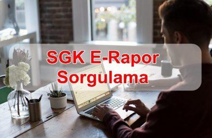 SGK E-Rapor Sorgulama