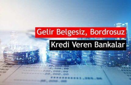 2020 Gelir Belgesiz, Bordrosuz, Kefilsiz Kredi Veren Bankalar